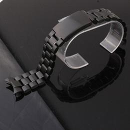 Compra Online Bandas de acero inoxidable enlaces-Accesorios del reloj de manera Acero inoxidable de la correa de la venda del reloj del acero inoxidable Acoplamiento sólido 18m m 20m m 22m m 24m m del extremo de la radiación del envío libre