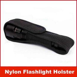 Wholesale New nylon material LED Flashlight Holster Hot sale black Nylon torch Holster for Ultrafire B B Cree XM L T6 Surefire P G2 L2 C8 C1