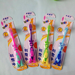 Wholesale Retail Soft Hair Children Toothbrush Kangaroo Sucker Toothbrushes Baby Dental Care Tooths Health Family Boys and Girls Antiskid Hand Shank