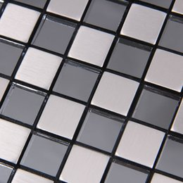 Wholesale Name factory direct Europe Mosaic silver brushed aluminum composite panel gray mirror adhesive Self adhesive