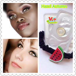 Wholesale Freeshipping free case colored contact lenses hazel autumn contact lens