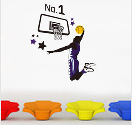 Wholesale 1PC Basketball Picture Style Vinyl Wall Sticker Art Home Room Decor Removable GS496