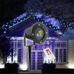 Red & Blue Elf Laser Projector Waterproof IP65 Outdoor Christmas Lighting With Remote Control Garden Landscape Sky lights