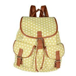 Wholesale New Designer Canvas Bookbags Backpack Dot Decoration Women s School Bag