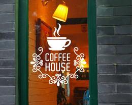 Wholesale Coffee House Mark Mirror Wall Sticker Home Decoration Pub Restaurant Cafe Shop Bar Pegatinas DIY Adesivo De Parede