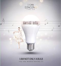 Wholesale 2 in LED Light Bulb Lamp Wireless Bluetooth Speaker E27 Base Music Player Sound Box Lighting