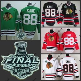Wholesale Hot Items Chicago kane Blackhawks red black white green Ice Hockey Jerseys Final Stanley Cup Patch Accept Mix order