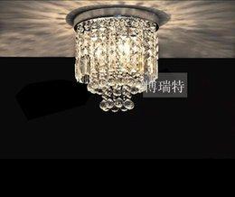 Wholesale led ceiling lights modern crystal ceiling lamps bedroom mini crystal ceiling lights balcony led vestibule lights small ceiling lamp