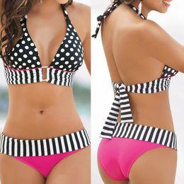 Free DHL hot sale Sexy Women Swimwear Bikini Set Bandeau Push-Up Padded Bra Swimsuit