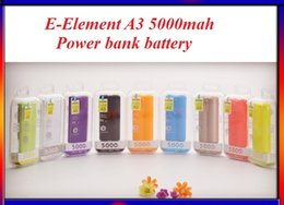 Wholesale E Element mah Power bank battery PC environmentally friendly materials shell mah mobile power supply with ce Rohs for mobile phone