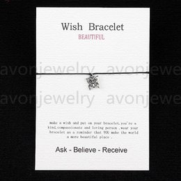 Wholesale 2016 hot sale Ancient Silver Butterfly String bracelet gift Card with Friendship Charm Wish bracelet colors new fashion customizable
