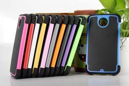 Plástico nexo en Línea-Para HTC Nexus 6 Grano de Fútbol híbrido resistente a los golpes de silicona resistente de goma de plástico duro caso cubrir casos de teléfono celular