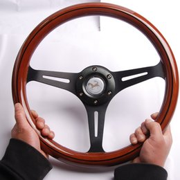 350MM 14inch Wood Phoebe steering wheel racing steering wheel three racing Phoebe