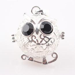 Bola jaula en venta-Ajuste de 20 mm hueco encantador búho Jaula Locket de resultados de la joyería del bebé Bola Bola de llamadas Locket Colgante Moda envío libre JAL C73