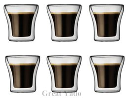 Wholesale Set of Original Bodum Assam Double Wall Thermal Glass cup mug Shot glasses for tea espresso vodka ml