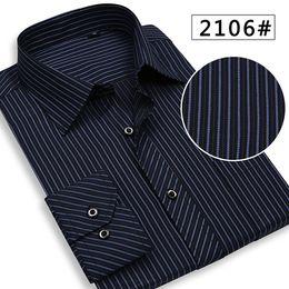 Wholesale Spring amp Autumn Men shirts Middle aged Men sshirt Long sleeve Business gentleman shirt Ten colors