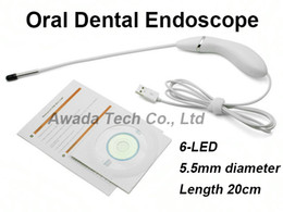 5.5mm Oral Dental endoscope borescope Intraoral Camera 6 led waterproof Home USB camera for ear oral nose