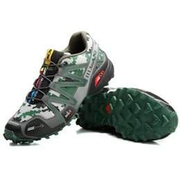 Wholesale 2016 de alta calidad profesional Salomón SPEEDCROSS para hombre zapatos de senderismo de salida resistente al agua que compite con las zapatillas de deporte Tamaño de los EEUU