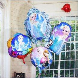 Wholesale 2015 color Frozen BalloonToys Birthday Party Princess Frozen Elsa Anna balloons Aluminum Foil Cartoon Mirror Balloons cm BBA3824