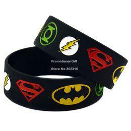 Wholesale New Justice League Superman Batman Green Lantern The flash Wristband Silicon Bracelet
