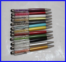 Diamond Crystal 2 in 1 Touch Screen Rhinestones Writing Capacitive Stylus Ball Pen For Mobile Phone Tablet PC