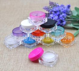 Wholesale 3G cream box Portable Acrylic Cosmetic Empty Jar Pot Eyeshadow Makeup Face Cream Container Cream bottle cosmetic box small square box