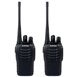 Wholesale 2 Piece BAOFENG BF S Walkie Talkie UHF MHz W Channel VOX Flashlight Scan Monitor Voice Prompt Single Band Two Way Radio A7154A