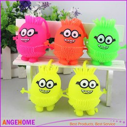 Wholesale Decompression Toys Minions Vent Ball novelty gift Action Figure Toy Soft Robot Doll Relax Squeeze Stress Relief
