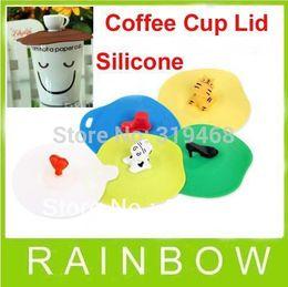 Wholesale Coffee Cup Teapot Mug Glass Airtight Silicone Cover Lid Mug Cap FEDEX