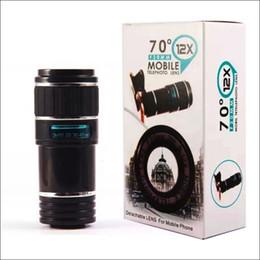 Universal 12X Mobile Telephoto Lens F 20mm 70 degree Detachable Lens for Mobile Phones Good Quality