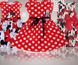 Motif gros-Nouvelle souris Cartoon Baby Girls Dots Robe haute qualité coton à manches courtes robes Tutu pour le costume de Noël Fille new christmas girls dresses on sale à partir de nouvelles robes de filles de noël fournisseurs