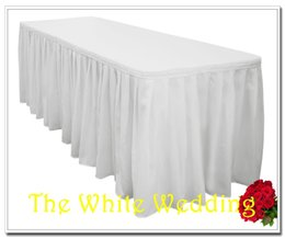 Wholesale polyester wedding table skirt for weddings amp banquet table ft width height for sale party table