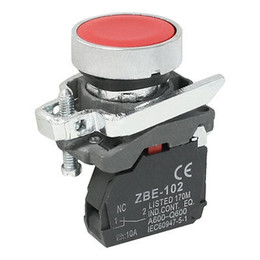 Wholesale 240VAC Amp NC Red Flat Terminals Type Push Button Switch SPST order lt no track