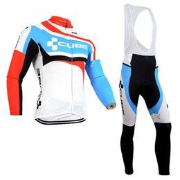 ¡Envío gratis! Manga larga Pro cubo ciclismo jersey ropa ciclismo otoño y primavera bici bicicleta bici cortos conjunto desde baberos ciclismo cubo fabricantes