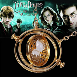 Wholesale Turner necklace Harry potter jewelry time Turner hourglass necklace Horcrux Time Turner pendant necklaces