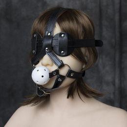 SM blindfold tied bondage sex toys male   female phallic headgear alternative tool Free Shipping