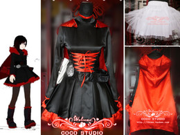 RWBY Red Ruby Rose cosplay costume Handmade Outfit