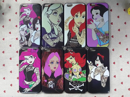 Wholesale Sexy Girl Tattoo Ariel Alice Snow White Marilyn Monroe Protective Hard Cover Case For iPhone inch Phone case