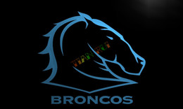 Wholesale LD372 Broncos Neon Light Sign home decor crafts led sign