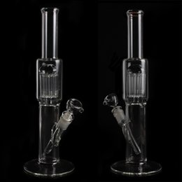 Wholesale 2016 cheap glass bong with Multi layer filter glass pipes one mm adapter medium glass smoking pipes glass water pipes