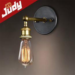 Wholesale Louis Poulsen scone wall lights E27 plated Loft american retro vintage iron wall lamp V V W Antique lamp industrial