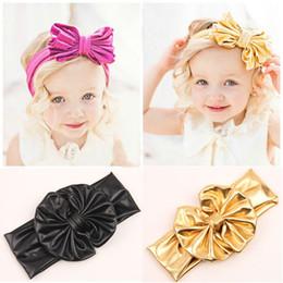 New Fashion Chidlren's Big Bow Headbands Baby bows headband gold bow headbands 7 colors 20pcs lot