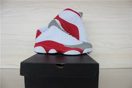 retro 13 xiii basketball shoes sneakers XIII mens basketball shoes cheap sneakers 2015 new white grey red low cut Outdoor sports shoes