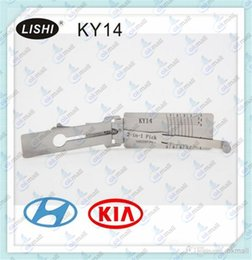 Wholesale Best Quality LISHI KY14 in Auto Pick and Decoder for HYUNDAI KIA LOCKSMITH TOOLS Lock Pick Set Door Lock Opener A196