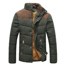 Wholesale Fall winter jacket men padding cotton casual down jacket parkas warm outdoors thick outwear coats jackets for men MY100