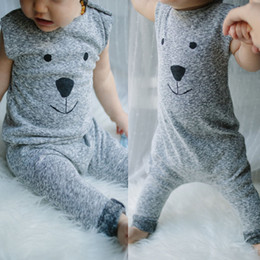 Wholesale 2016 Baby Girl Boy Bear Cotton Rompers Bodysuit Playsuit One piece Outfits Costume