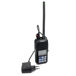 Wholesale-RS-36M 80CH Walkie Talkie VHF Handheld Transceiver Portable Marine Radio with Large LCD Display Float and Flash WaterProof IP-X7