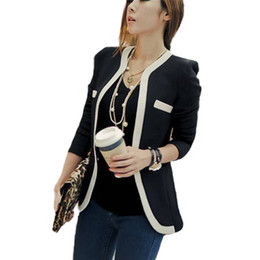 Zanzea 2015 New Fashion Blazer Suit Summer Autumn Women OL Slim Fit V Neck One Button Patchwork Blazer Femininas S-XL FG1511