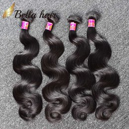 Human Hair Weaves Brazilian Hair Bundles Extensions Body Wave Hair Weaves Weft Cheap Malaysia Peruvian Indian Double Weft 4PC 7A Bellahair