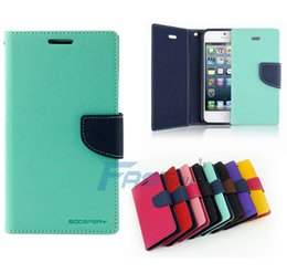 Free DHL Mercury Wallet PU Flip Leather Case Card Slot For Samsung Galaxy A7 S3 S4 S5 S6 Edge Mini Note 2 3 4 iPhone 4 5 6 Plus HTC LG SONY